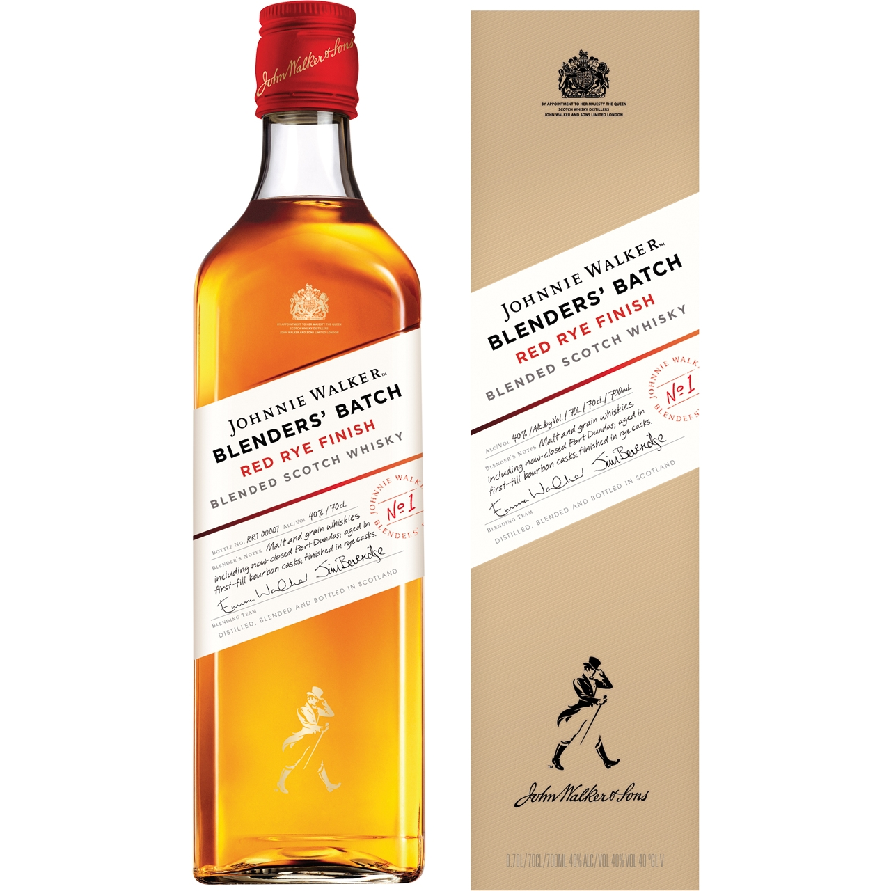 Johnnie Walker Red Rye Finish 70cl.