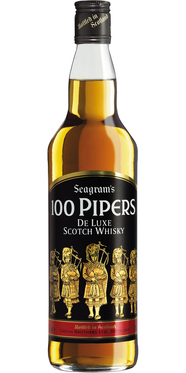 100 Pipers 70cl.