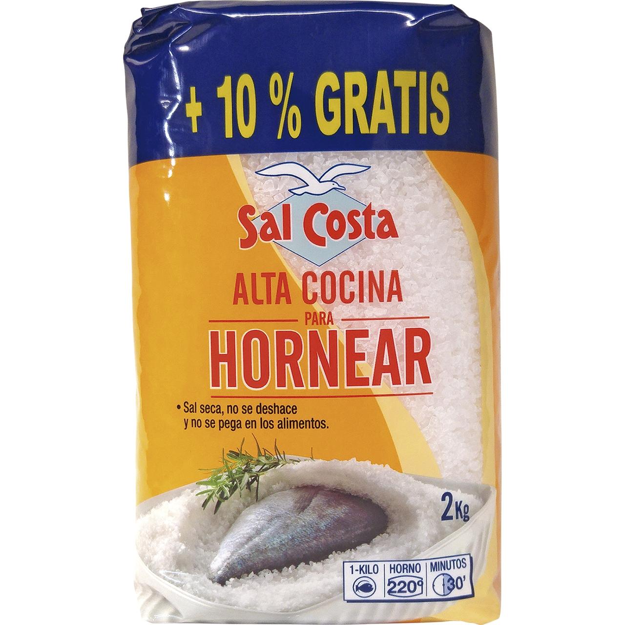 Sal de alta cocina especial para horno 2kg. Sal Costa