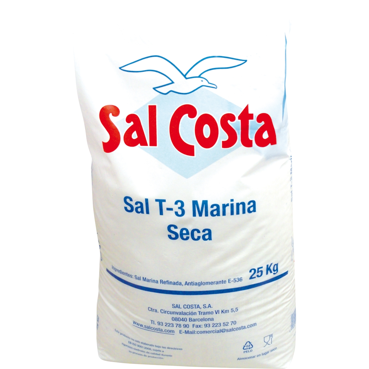Sal Gruesa (Pescado) 25kg. Sal Costa