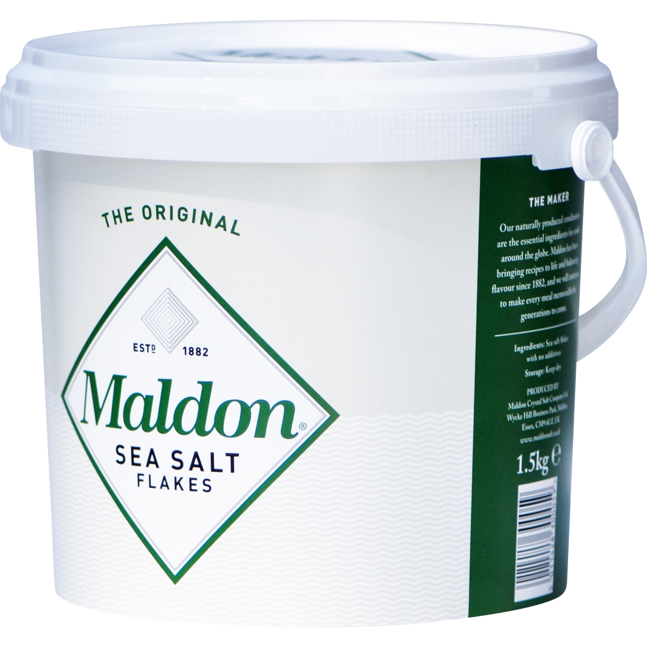 Sal marina en escamas 1,5kg. Maldon