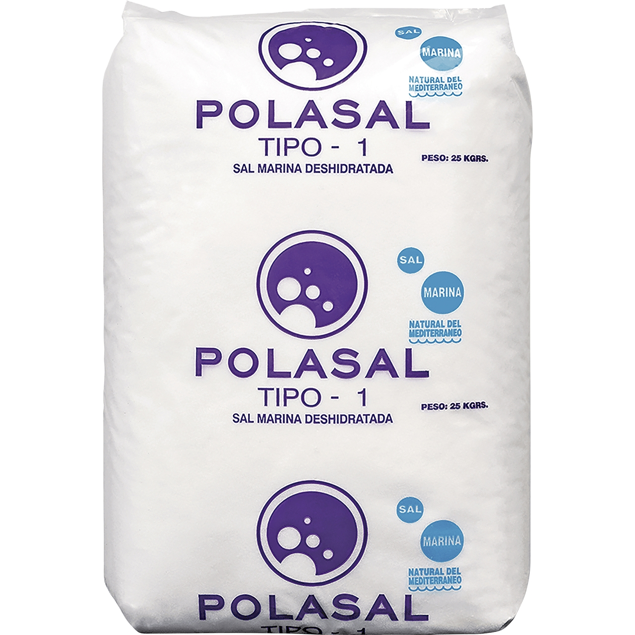 Sal Fina de mesa 25kg. PolaSal