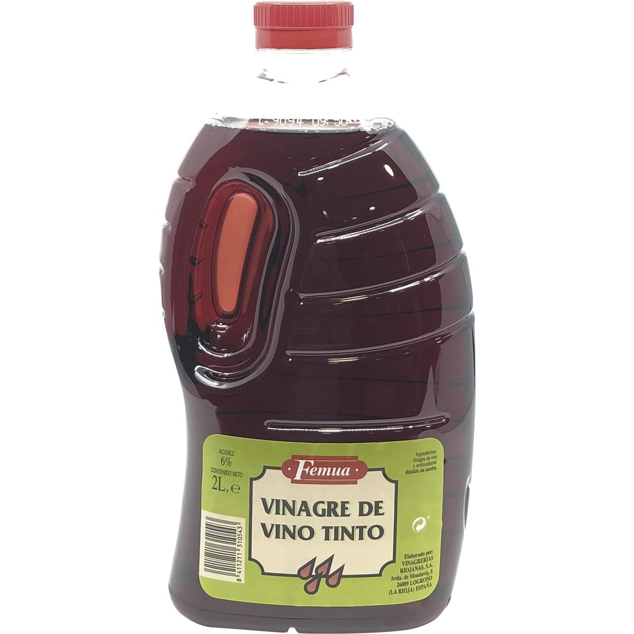 Vinagre de vino negro 2l. Femua