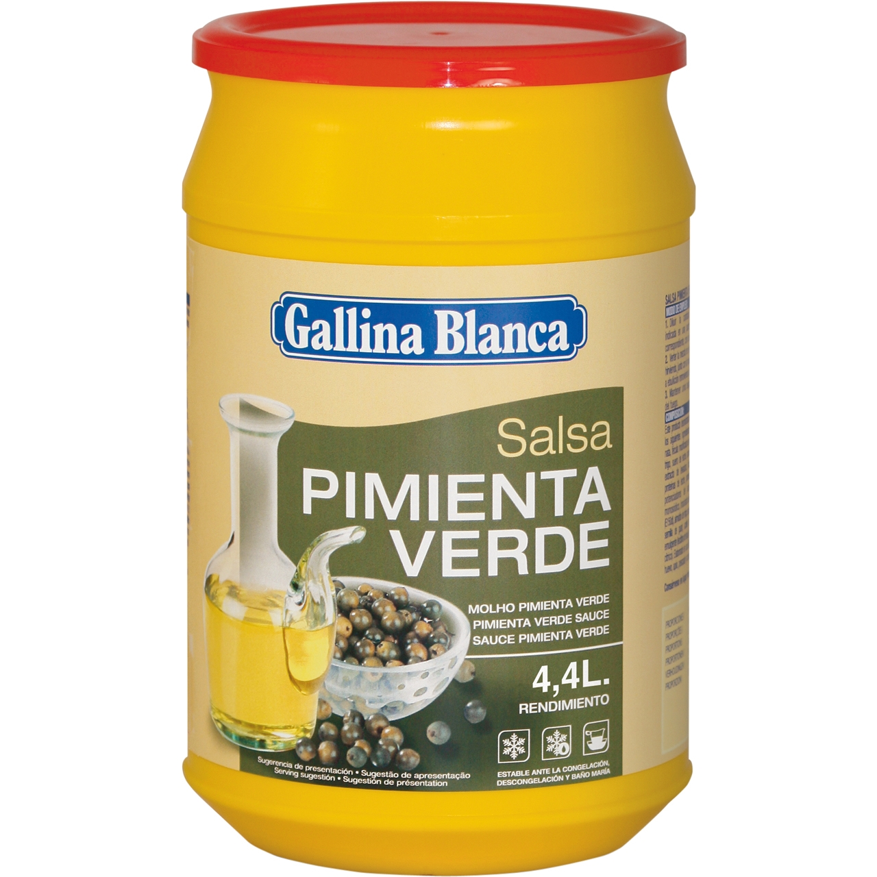 Salsa pimienta verde deshidratada 1kg. Gallina Blanca