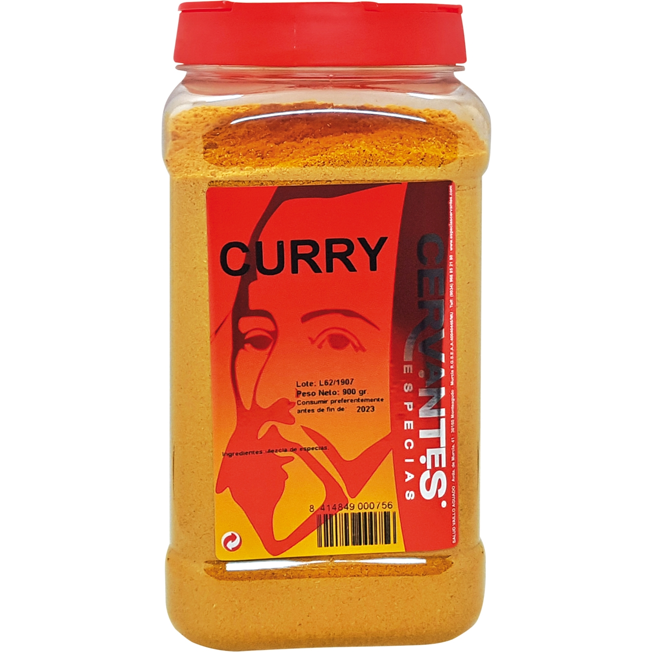 Curry en polvo 915gr. Cervantes