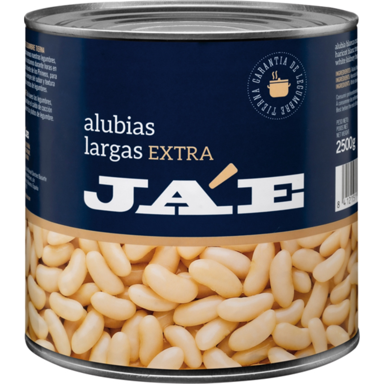 Judía larga blanca cocida extra 3kg. Ja'E