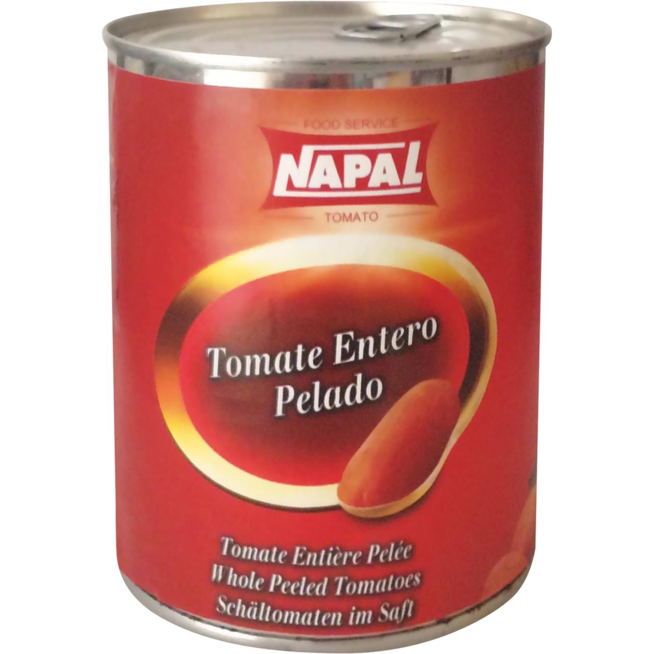 Tomate entero pelado 1kg. Napal