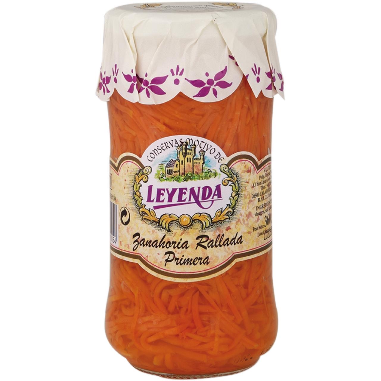 Zanahoria rallada 370ml. Leyenda
