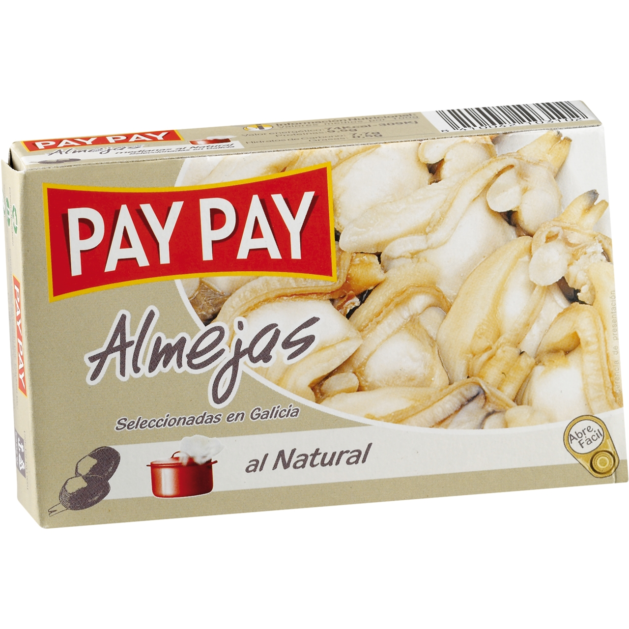 Cloïsses al natural OL 120 F.O. Pay Pay