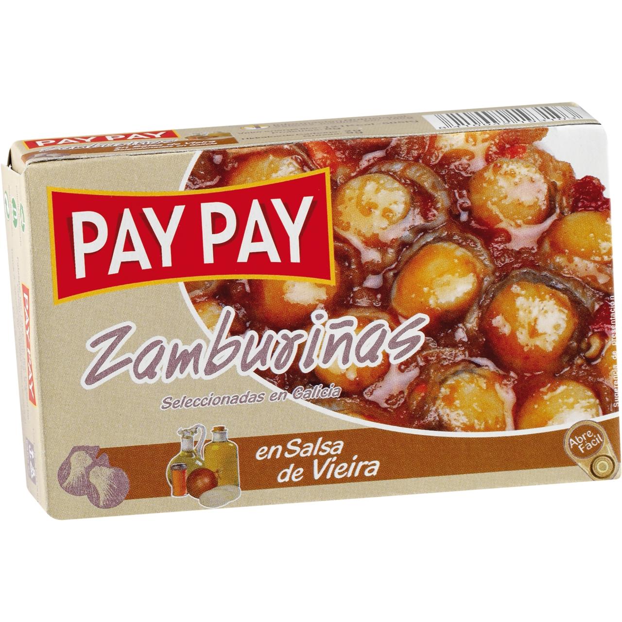 Zamburiñas en salsa de vieira OL 120 F.O. Pay Pay