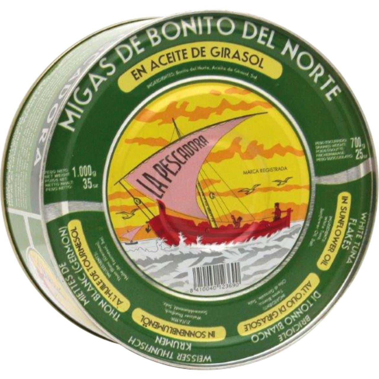Migas de bonito en aceite girasol RO-1100 La Pescadora
