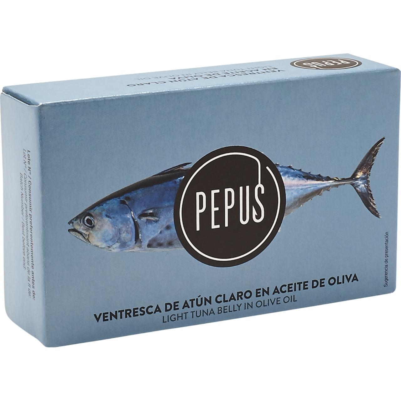 Ventresca de atún en aceite de oliva OL.1200 F.O. Pepus