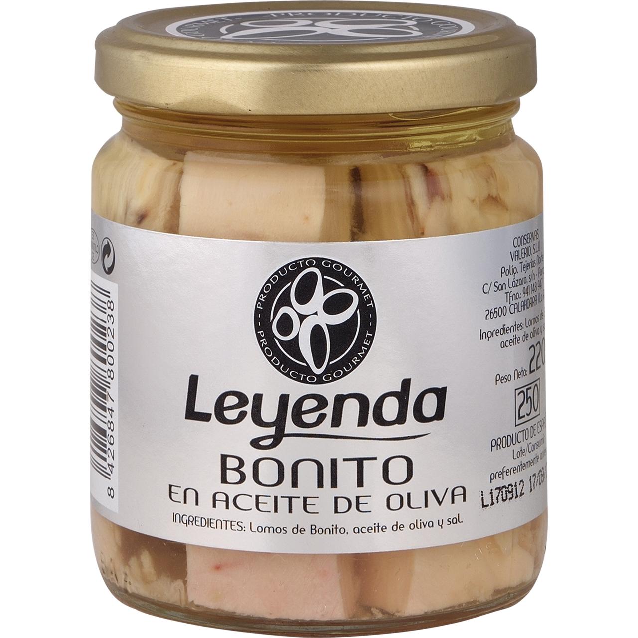 Bonito en aceite de oliva 220gr. Leyenda