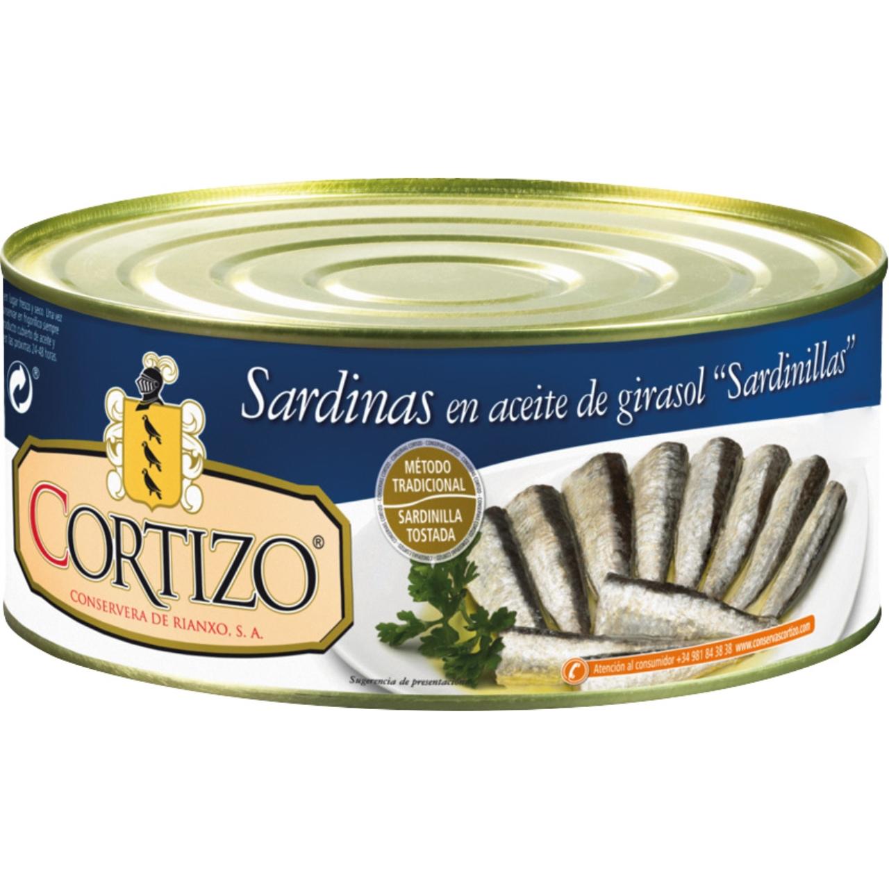 Sardinillas en aceite vegetal RO-1000 Cortizo