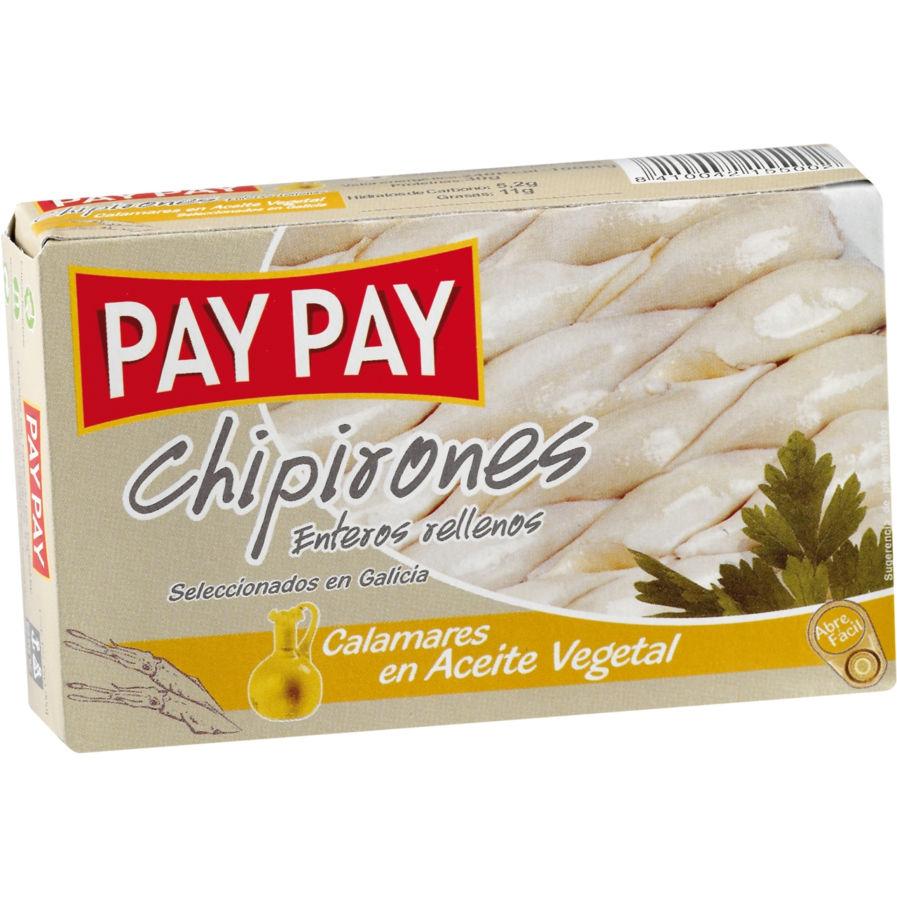 Chipirones en aceite vegetal OL 120 F.O. Pay Pay