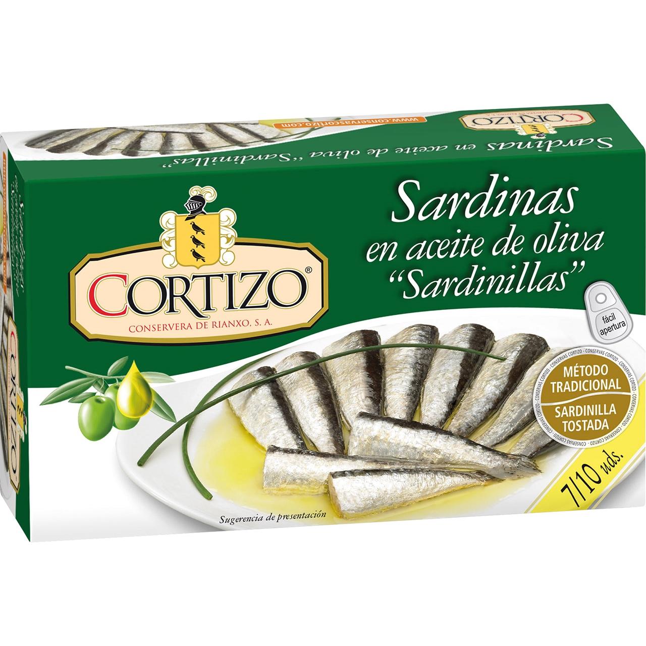 Sardinetes en oli vegetal RR-90 Cortizo
