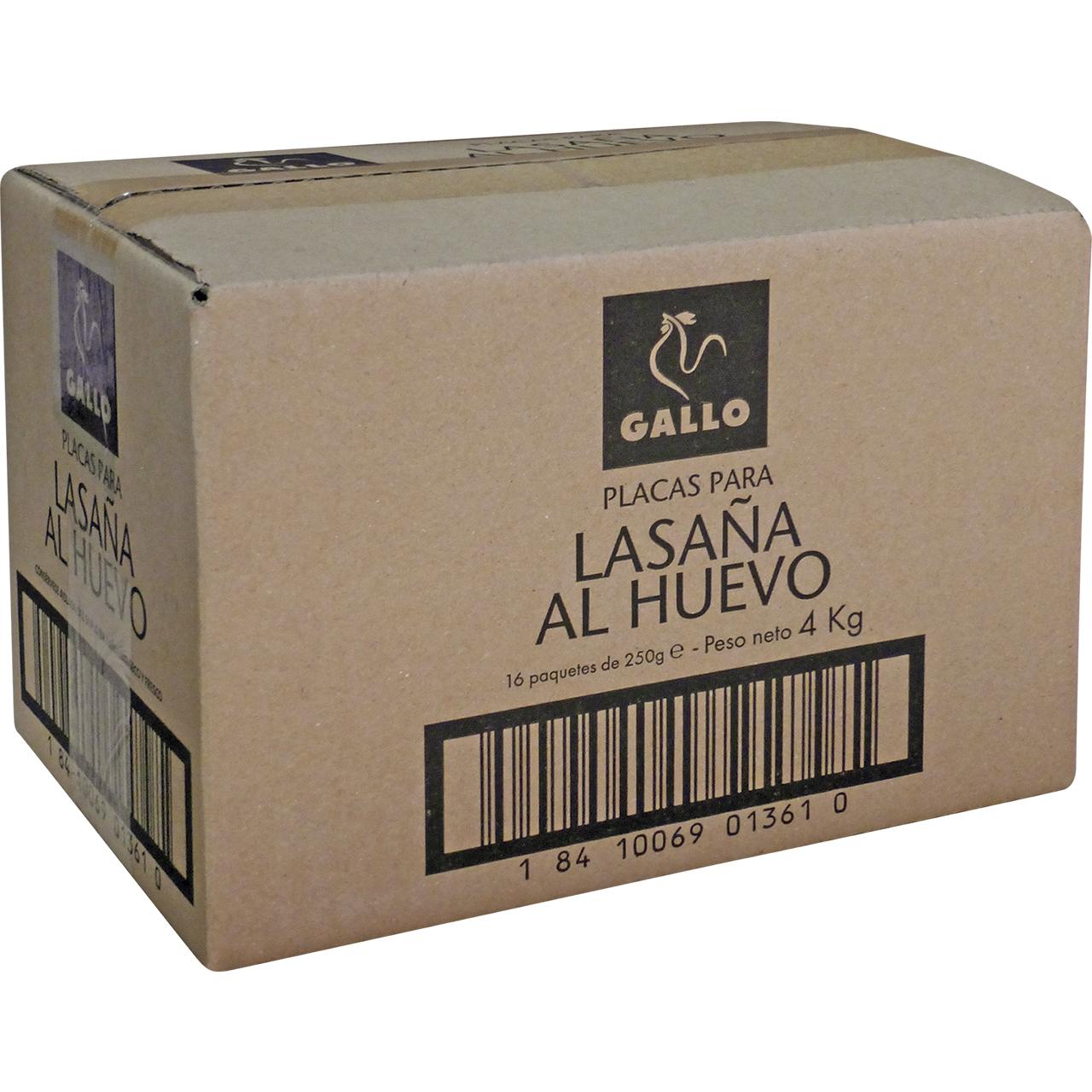 Lassanya a l'ou 4kg. 320 plaques Gallo