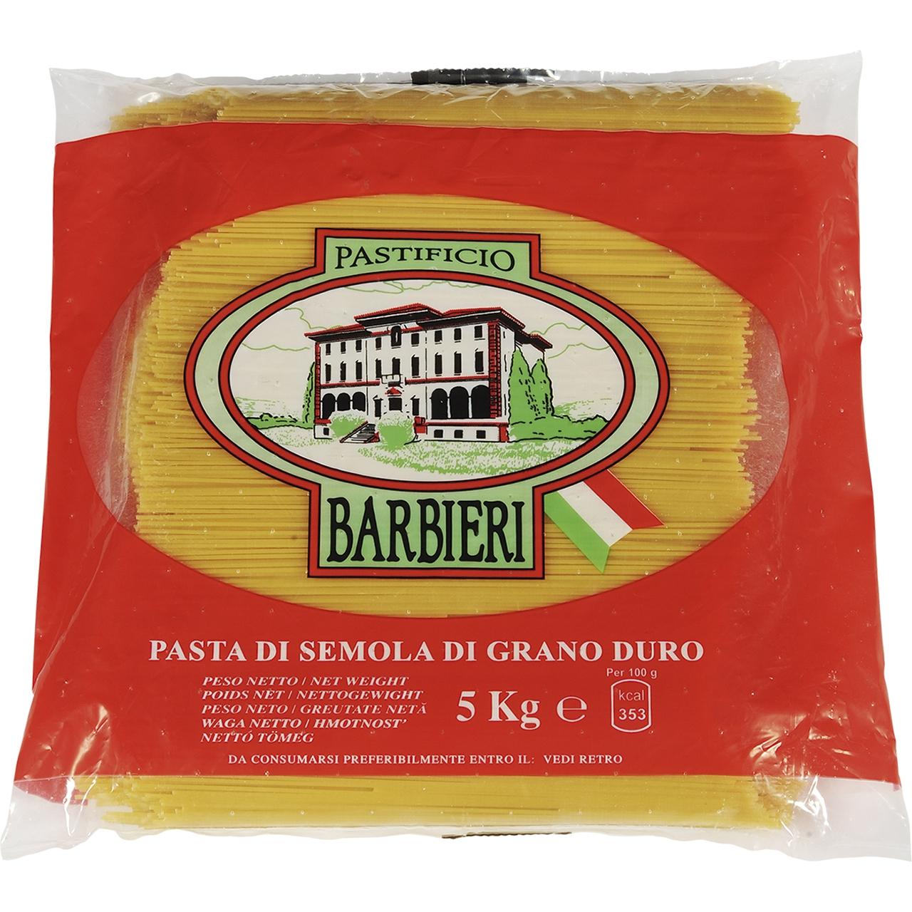 Espagueti 5kg. Barbieri
