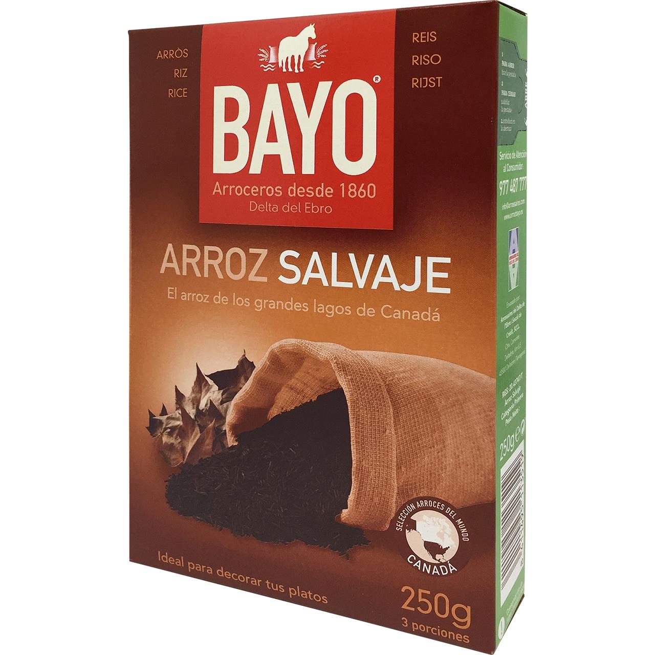 Arroz 100% Salvaje 250gr. Bayo