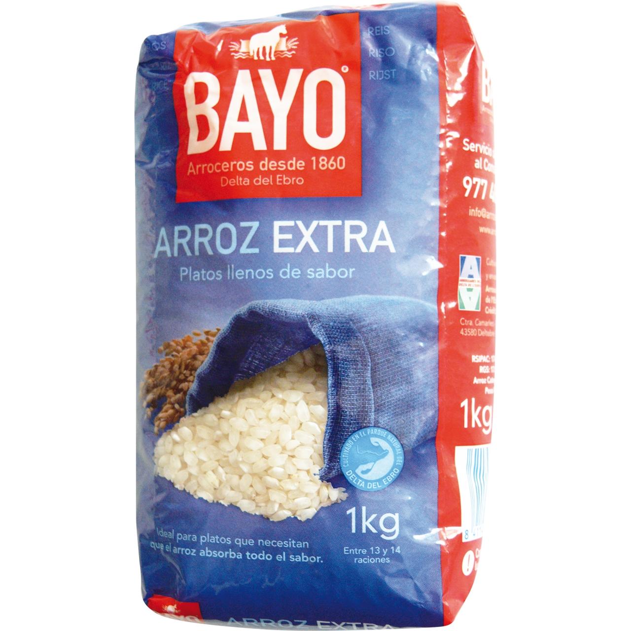 Arroz Extra 1Kg. Bayo