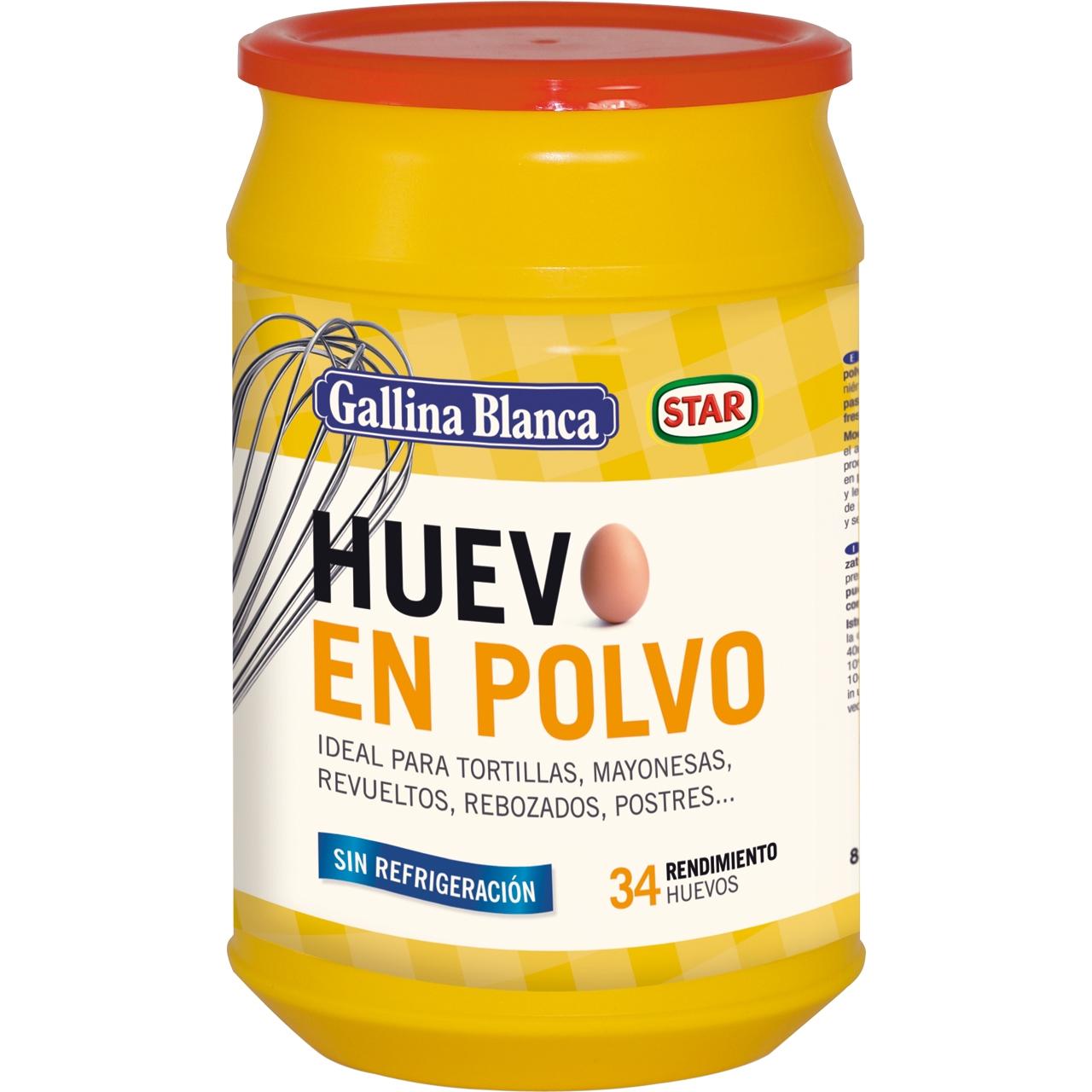 Huevo en polvo deshidratado 340gr. Gallina Blanca