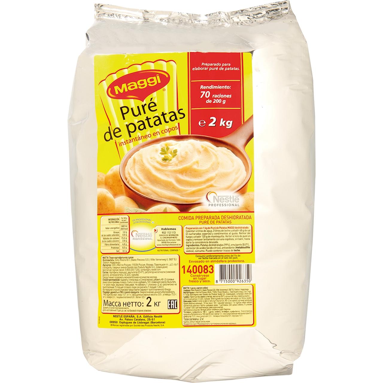 Puré de patates 2kg. Maggi