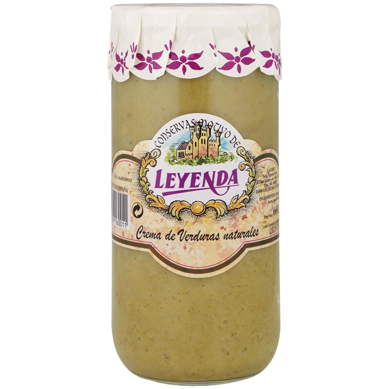 Crema de verdures natural 720ml. Leyenda