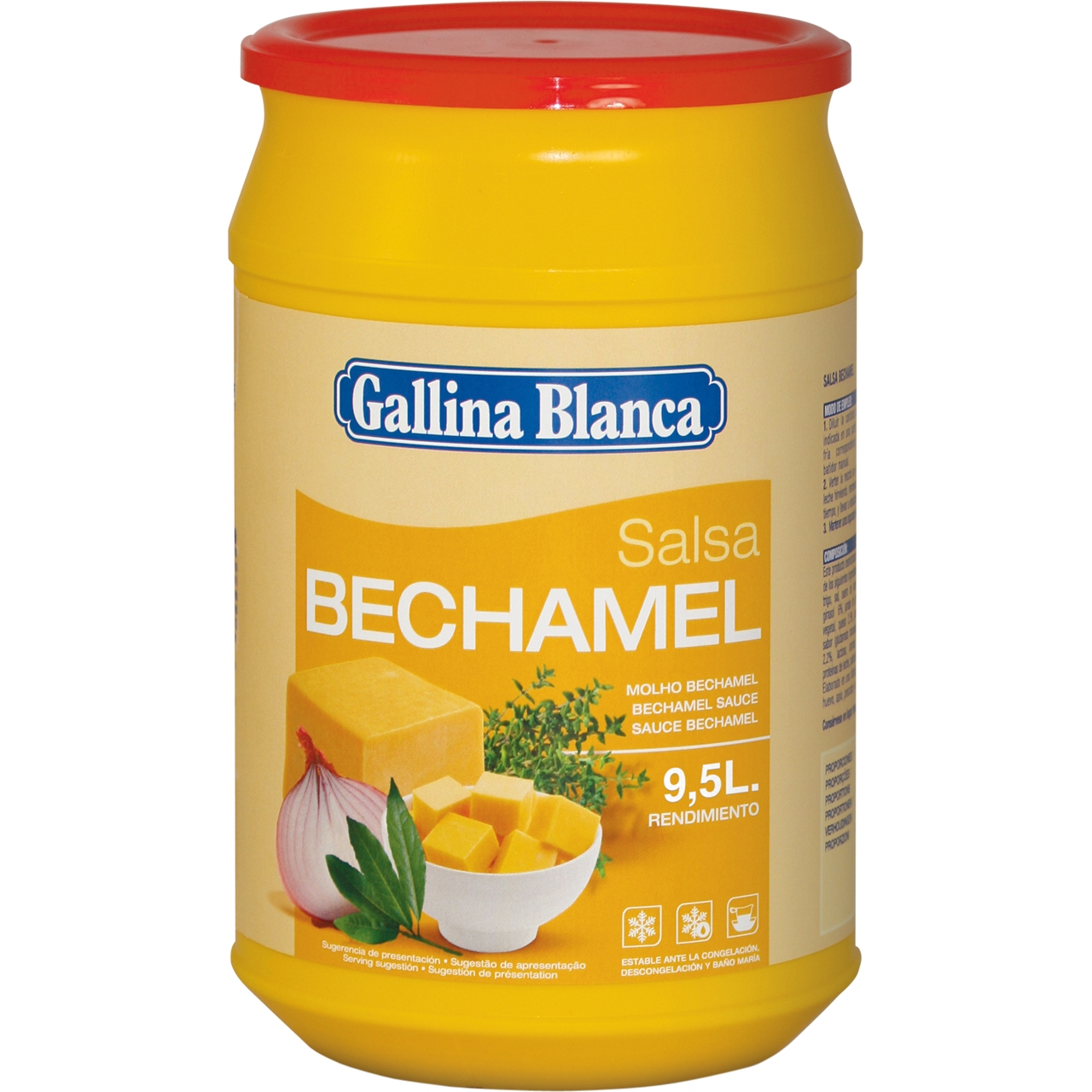 Salsa bechamel deshidratada 1kg. Gallina Blanca